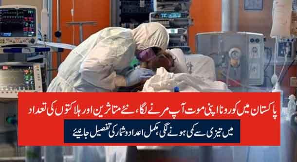 پاکستان میں کورونا اپنی موت آپ مرنے لگا، نئے متاثرین اور ہلاکتوں کی تعداد میں تیزی سے کمی ہونے لگی، مکمل اعداد و شمار کی تفصیل جانیئے