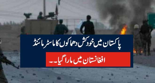 پاکستان میں خودکش دھماکوں کا ماسٹر مائنڈ  افغانستان میں مارا گیا