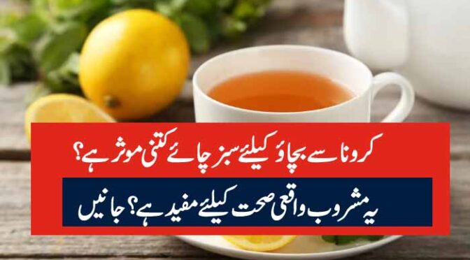 کرونا سے بچائو کیلئے سبز چائے کتنی موثر ہے ؟یہ مشروب واقعی صحت کیلئے مفید ہے ؟ جانیں