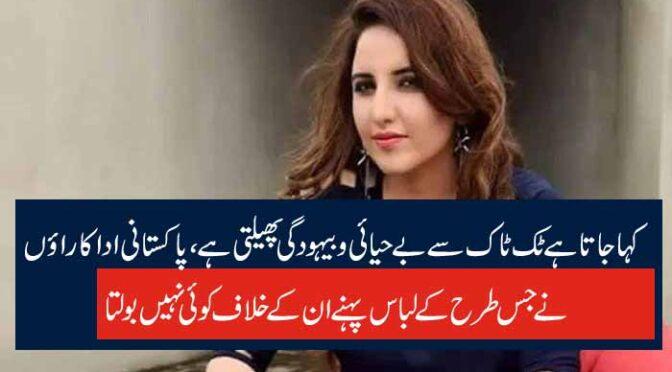 کہا جاتا ہے ٹک ٹاک سے بے حیائی و بیہودگی پھیلتی ہے، پاکستانی اداکاراؤں نے جس طرح کے لباس پہنے ان کے خلاف کوئی نہیں بولتا