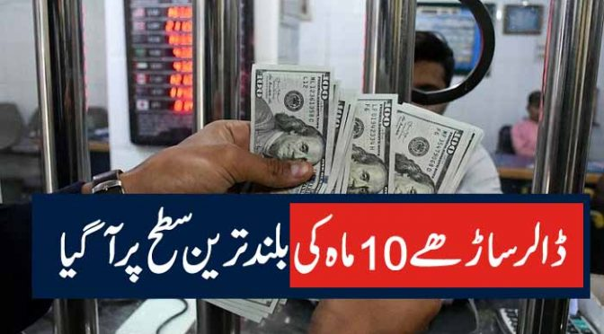 ڈالر ساڑھے 10ماہ کی بلند ترین سطح پر آگیا